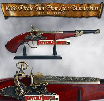 1688 Pirate Flint Lock Blunderbuss Replica Pistol 17 1/2&quot;