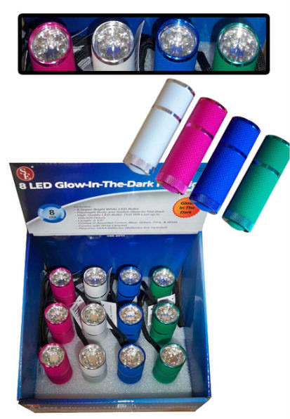 Glow-In-The-Dark LED Flashlight FL302-14