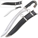 Dragon Slayer Knife with Mini Knife and Sheath 17 1/4""