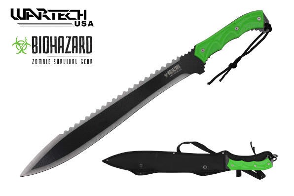 HUGE 25in ZOMBIE Killer Machete H1315
