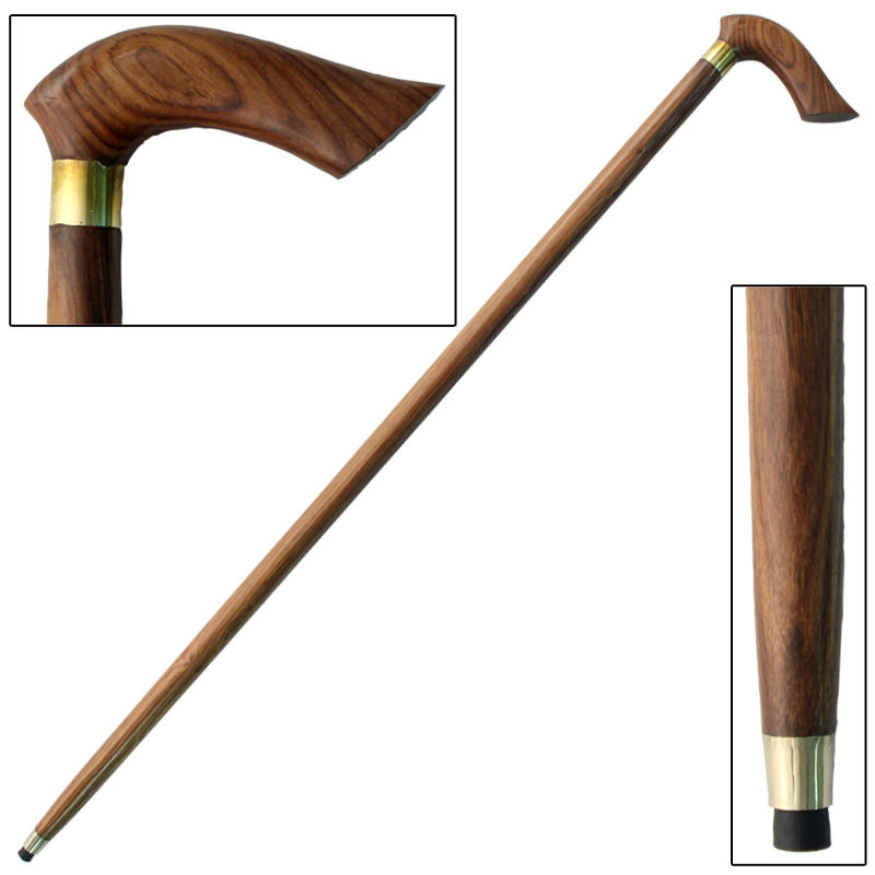 Half-Crook Sheesham Wood Grip Cane