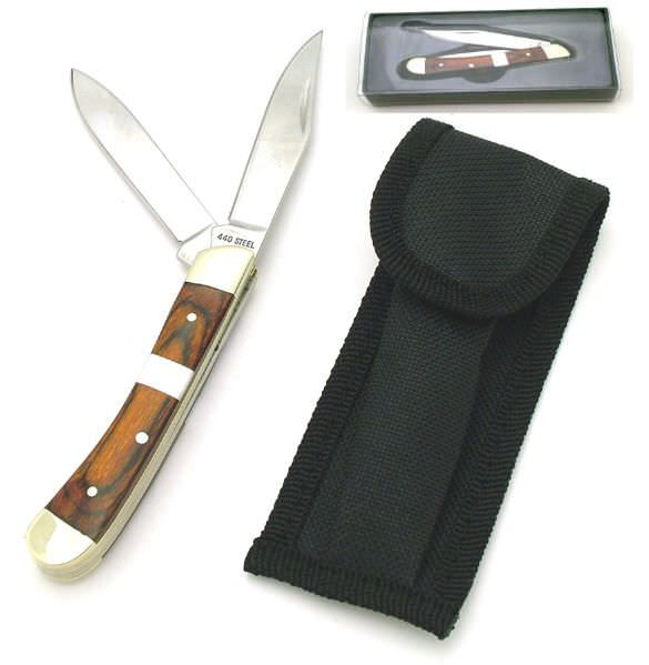 Hardwood / Pearl Handle Pocket Knife KCD2005C