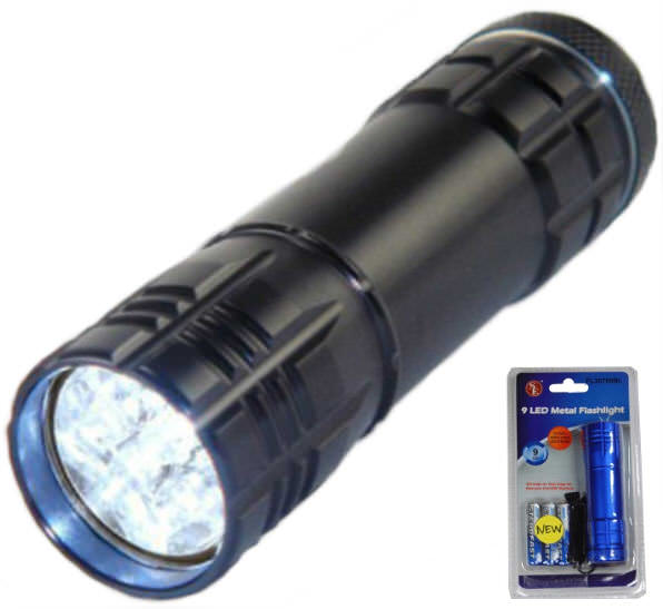 High Tech Premium Quality 9 Led Flashlight FL30709B