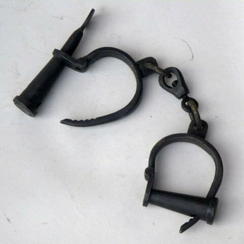 Antique Iron shackles -Hand Cuffs