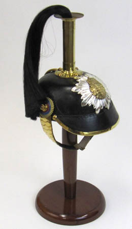 German Helmet with Picklehaube Spike and Black Hair