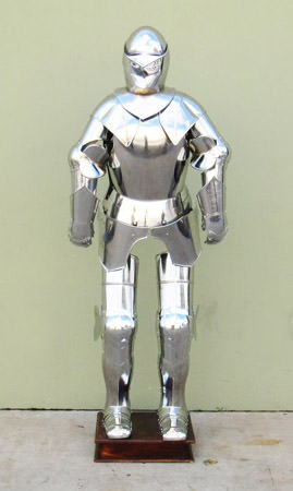 Full suit of armor with stand 75""