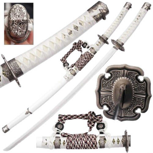 Imperial Ceremonial Honorary White Katana KA2013