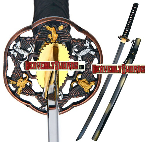 Handmade Full Tang Battle Ready Samurai Katana Sword 39 1/8""