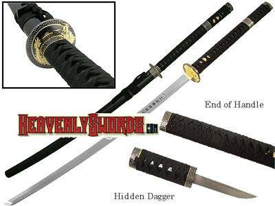 Samurai Katana Sword with Hidden Tanto 43""