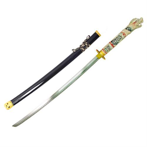 Highlander Duncan MaCleod Open Mouth Dragon Sword Black 42""