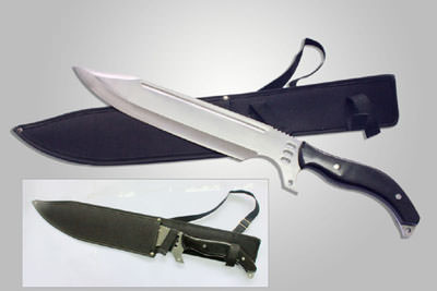 Zombie Killer Giant Fixed Blade Tactical Bowie Knife 21""