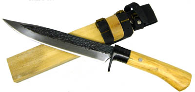 White Steel Heavy Duty Hunting Knife With Sheath 14""