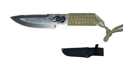 Tactical Knife with Sheath 9""