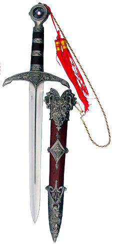 RobinHood's dagger with Scabbard and Tassles 18""