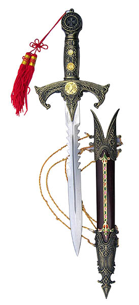 Templar Knight's Dagger and Sheath 17""