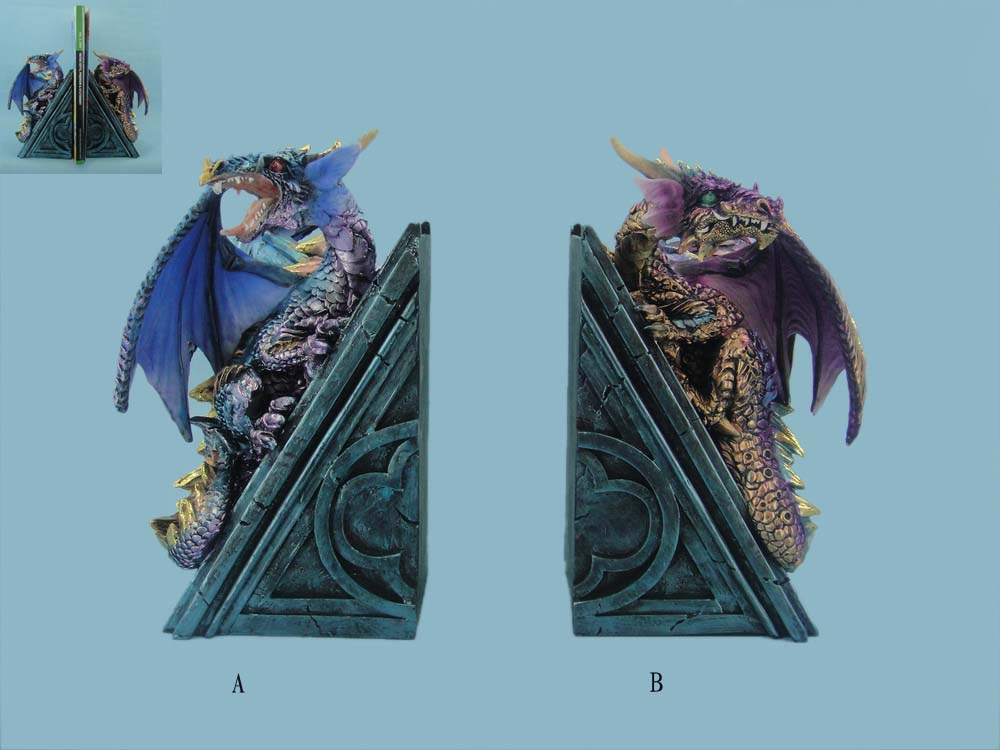 Set of Dragon Book Ends