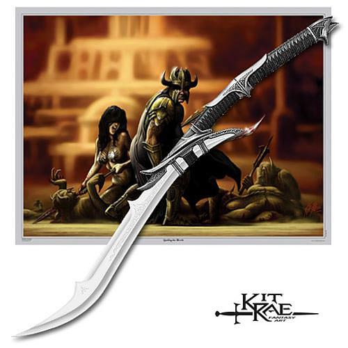 Kit Rae Mithrodin Custom Fantasy Sword w/ Poster 42 3/4&quot; 