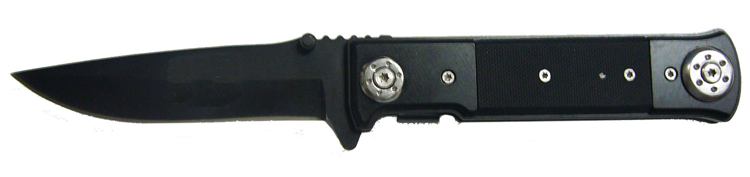 Black Sharp Steel Pocket Folding Knife 8""