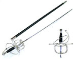 Medieval Fancy Rapier Sword &amp; Hard Scabbard 44&quot;