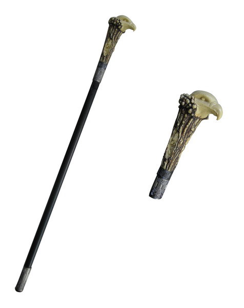 Poly Resin Eagle Steel Walking Stick Gentleman's Cane 39""