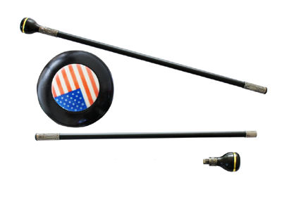 American Flag Steel Walking Stick Gentleman&#039;s Cane 36&quot;