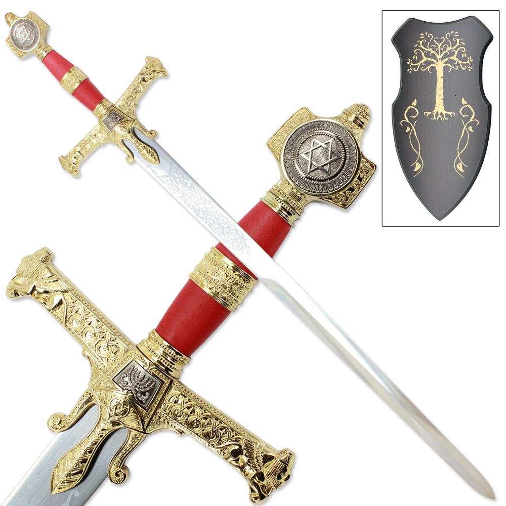 King Solomon Great Broad Sword - Red