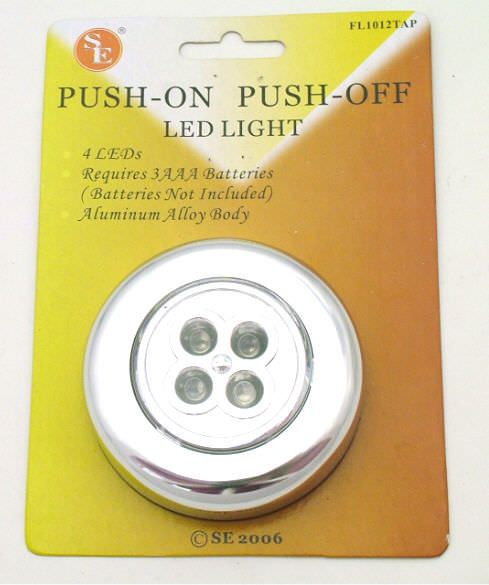 LED 4 bulb Tap Light FL1012