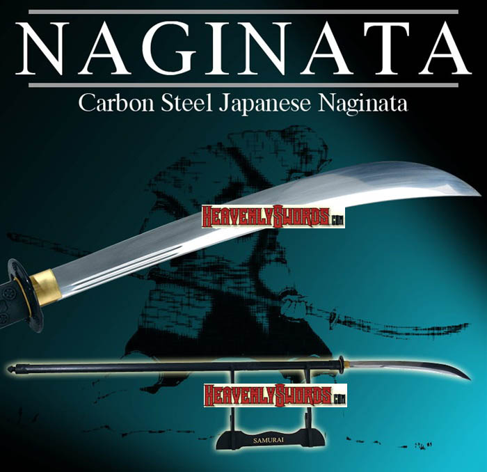 Functional Carbon Steel Japanese Samurai Naginata 69 1/2""