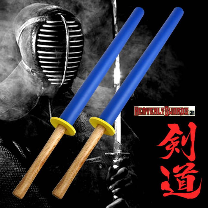 Set of 2 Foam Padded Training Practice Swords Shinai Bokken 35 1/2""