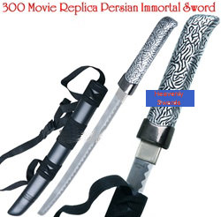 300 Spartan Warrior Persian Immortal Sword Prop With Scabbard 18 3/4""