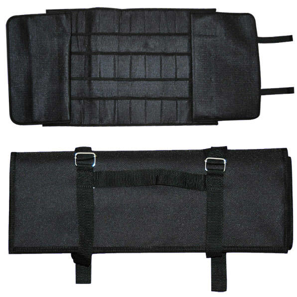 Large Black Nylon 24 Knife Case NY096