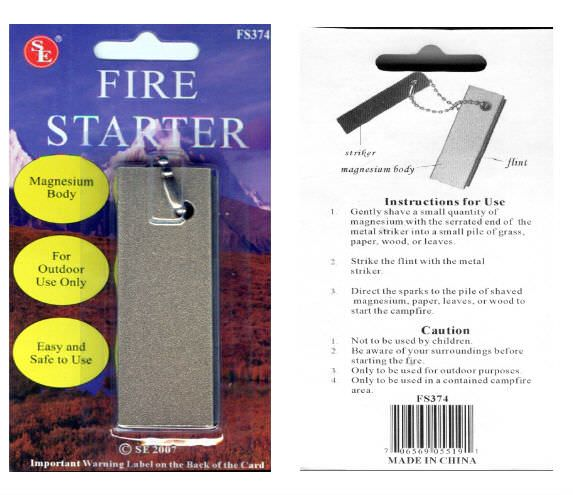 Large Magnesium FIRE STARTER FS374