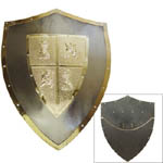 Medieval Steel/ bronze Shield of El CId 25""
