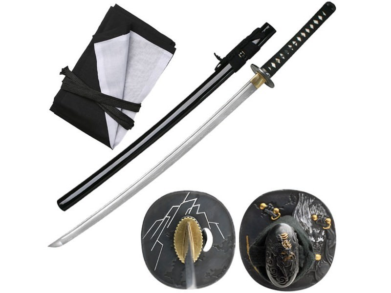 Bushido Black Raijin Folded Katana