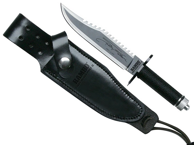 """First Blood Part 2 Miniature Rambo Knife Signed 6 1/4"""""""