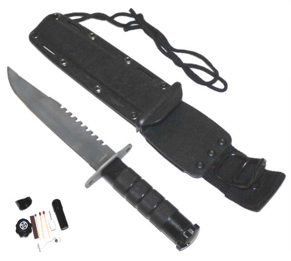 Marine Type Combat / Survival Knife SP012BK