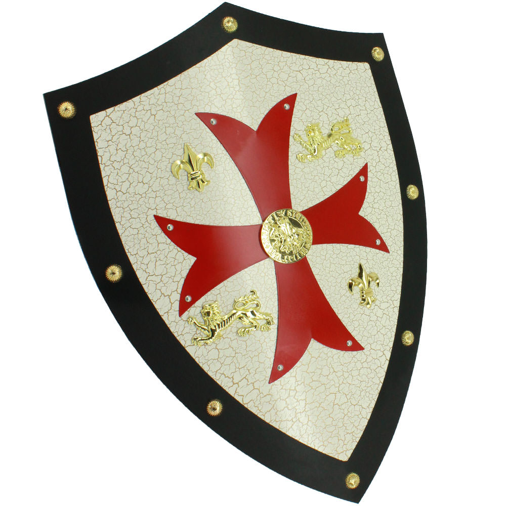 Medieval Royal Knight Crusader Shield /w Red Cross