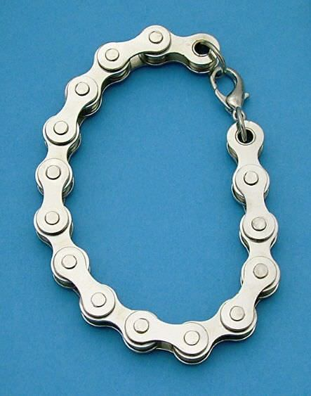 Mens Motorcycle Bikers Real Chain Bracelet JL149