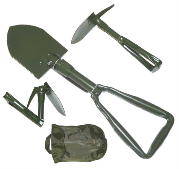Military Type Folding Shovel & Case SH19OD