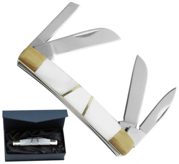 Mother of Pearl Knife & Display box 210904