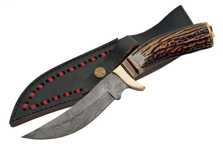 Mountain Man Real DAMASCUS Steel Hunting Knife DM1045