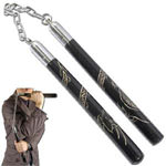 Way of the Dragon Nunchaku Pitch Black 12""