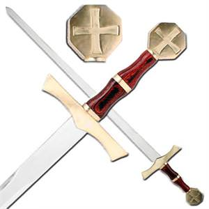 Crusader Sword Knights Honor Cross and Sheath 40&quot;