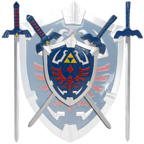 Zelda Hylian Shield & Swords Wall Display Set 17""