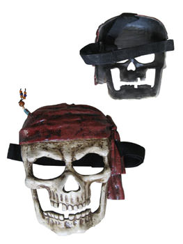 Pirate mask skull and bandana