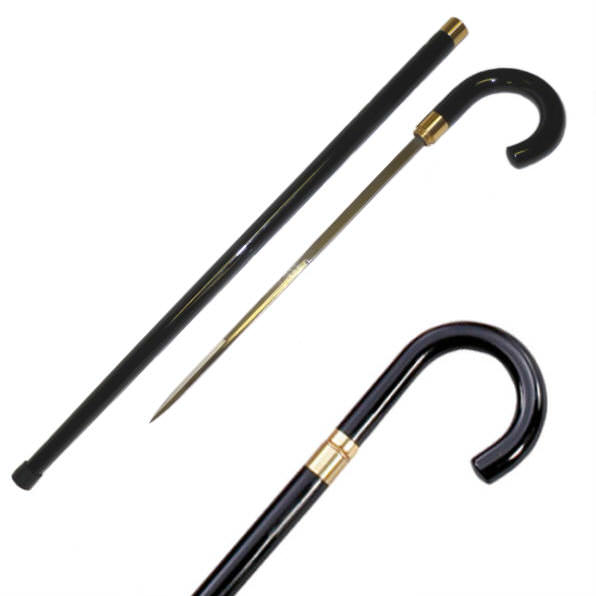 Quality Traditional Walking Cane Sword G2001BK