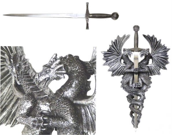 Dragon Excaliber Sword Plaque 11 3/4""