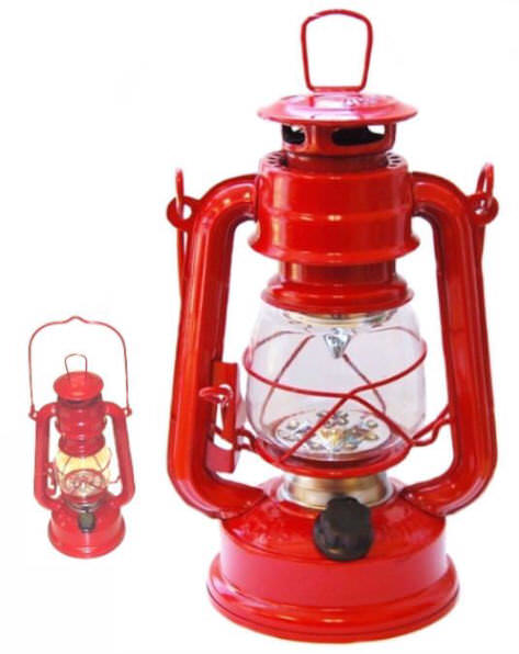 RED LED Hurricane Lantern 12 Bulb FL806-12R