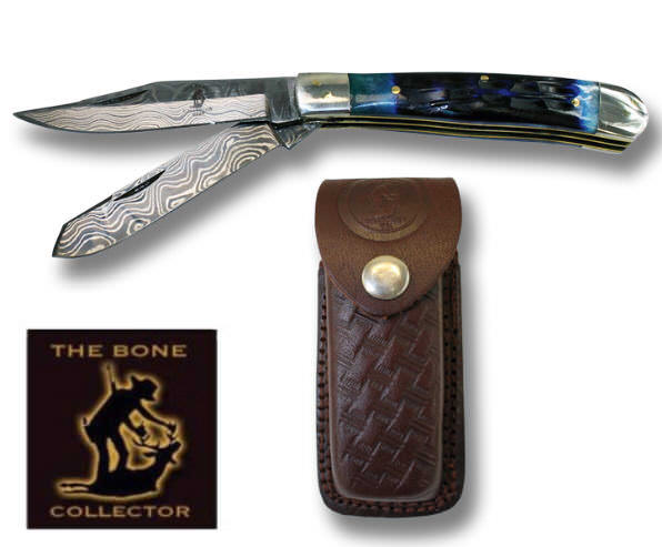 Real DAMASCUS Pocket Knife BC826-2BLDB