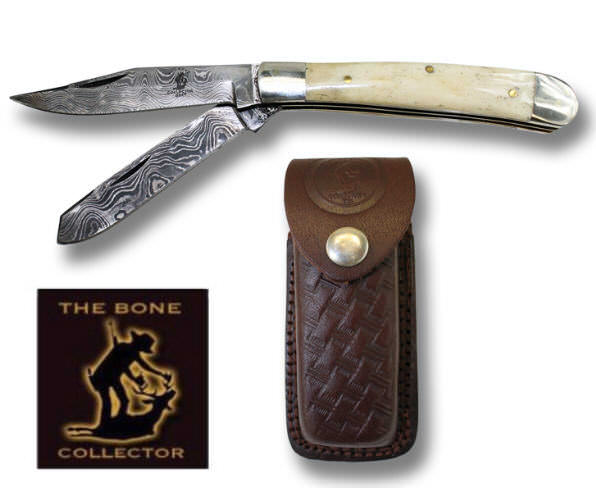 Real DAMASCUS Pocket Knife BC826-2WHDB